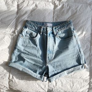 Zara High Waisted Demin Shorts
